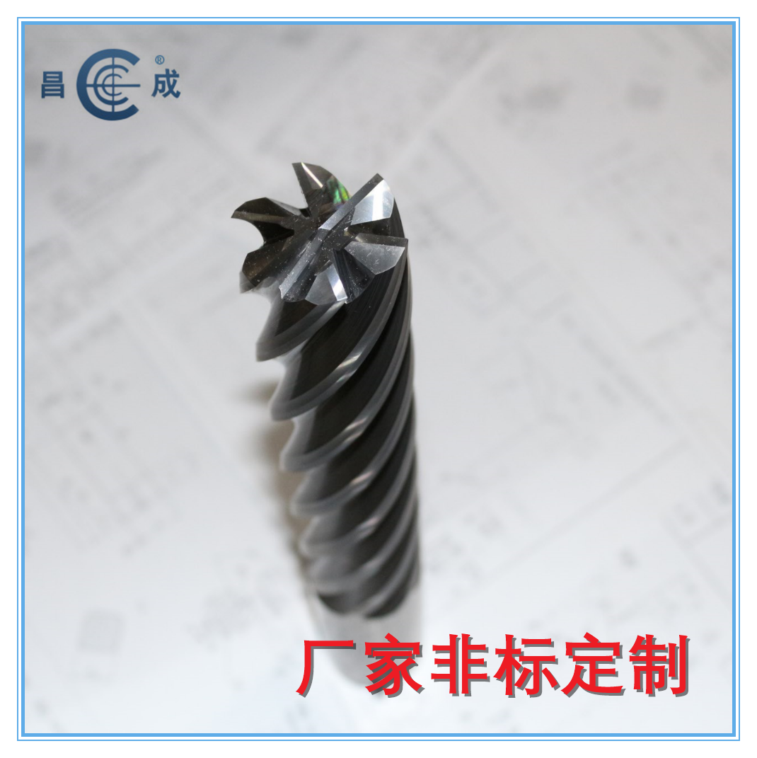 Integral carbide helical hinge milling cutter with 6 edges, 10 edges and 12 edges twist reamer, lengthening and thickening reamer