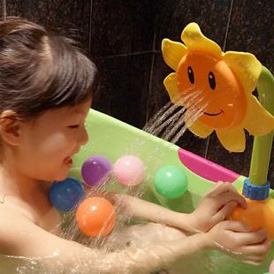宝宝洗澡玩具电动向日葵花洒儿童淋沐浴戏水喷水女孩男孩浴室玩具
