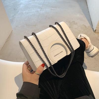 高级感链条小包包女2021流行新款潮时尚百搭单肩斜挎包网红小方包