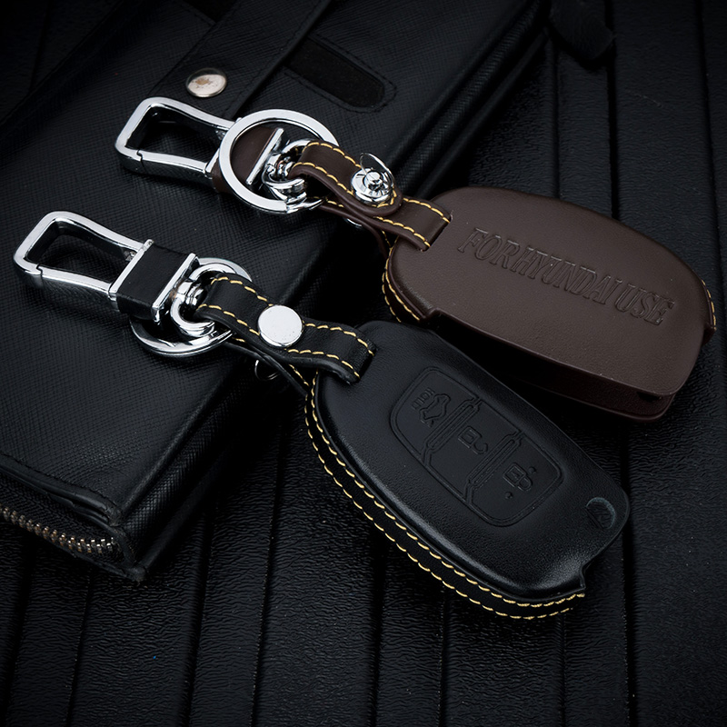 Dedicated to the 16 Hyundai pleasing leather key with a key set of ms.male modified car remote control set shell