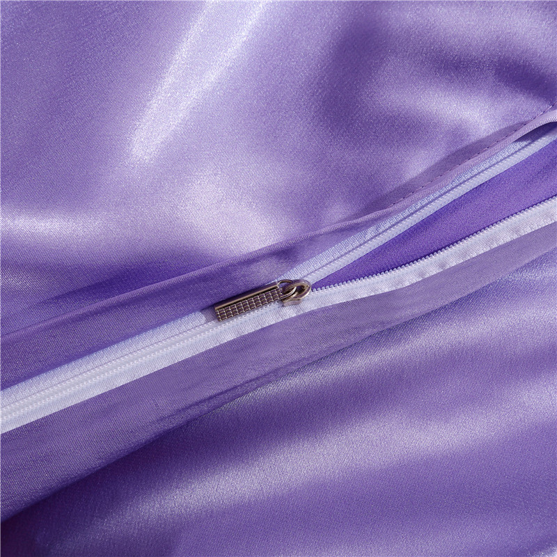 Four sets of bedding Tencel satin silk 4 four piece 1.8M four piece solid bed linen bedding