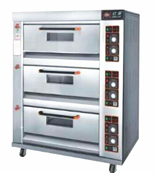 The new 309E three layer nine plate Hongling gas oven baking oven with commercial large capacity