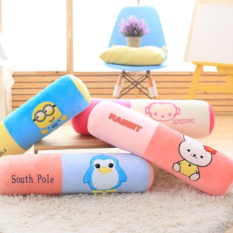 主韓式毛可洗い張りキャンディ棒覚枕可愛い公絨のソファーで枕マットで型円柱