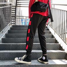 【港亨】秋冬黑红条纹运动裤