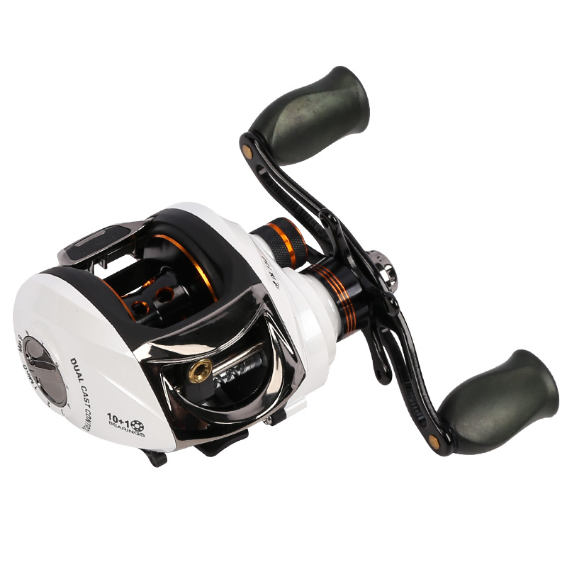 The house of the sea fishing speed to send the 150 version from the left and right hand brake magnetic + double water wheel road Yalun fishing reel