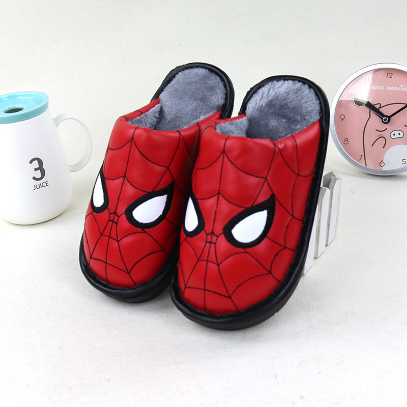 儿童棉拖鞋pu皮防水保暖防滑包头男童女童居家软底中大童棉拖鞋冬