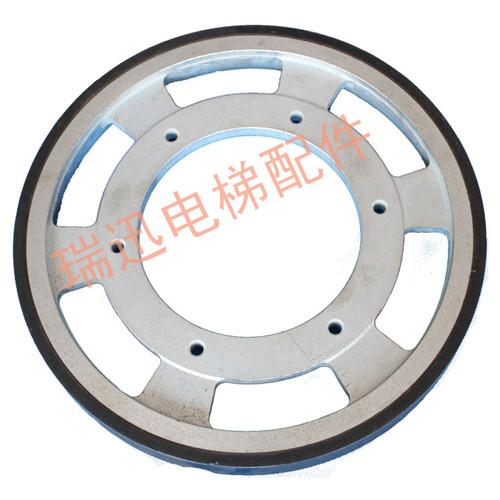 Friction wheel, wide Otis Otis belt drive wheel, 456*218*36DAA265NNN1 friction wheel