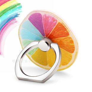 小清新柠檬水果指环扣支架苹果oppo小米vivo华为手机通用创意粘贴