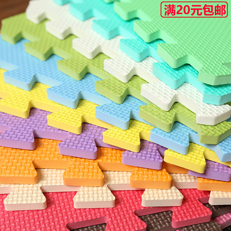 The foam covered with blue bedroom floor mat household meters seamless puzzle mats children crawling tatami mat