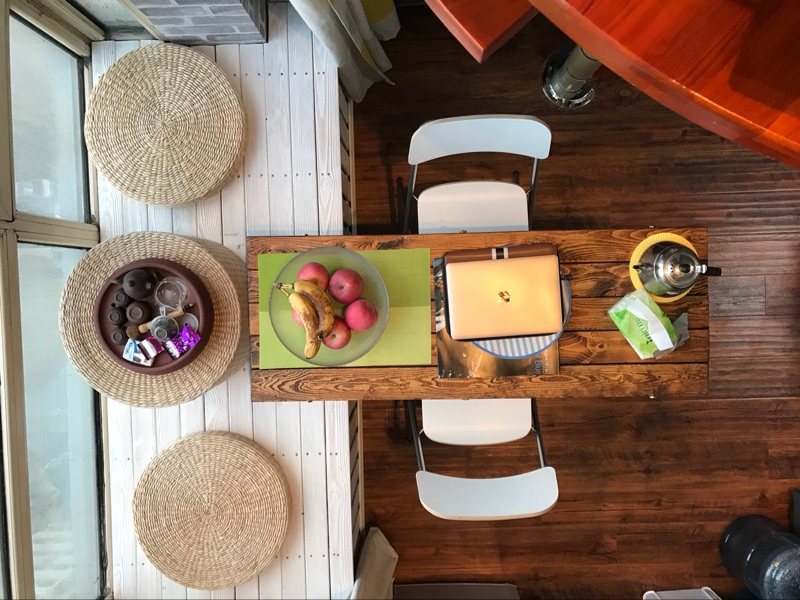 Japanese straw rattan table table table tatami wood window sill bed Kang several small square table table table