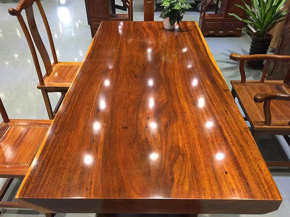 La plaque en bois massif, Monsieur Rosewood Wujin fleur table table de plaque de bois de bureau en acajou de grumes de table table de thé