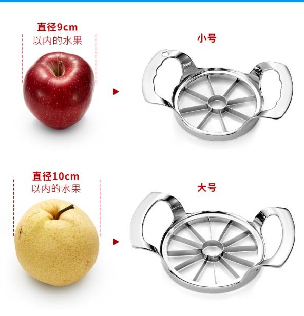 Schnitt Apple zu nuklearen für Edelstahl - Fruit slicer Haushalt kernrohr splitter Cutter Apple artefakt