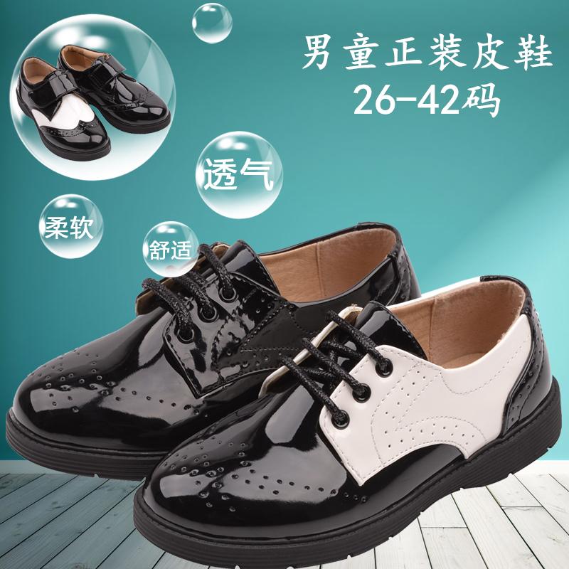 男童正装黑皮鞋演出鞋