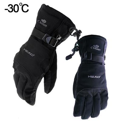 HEAD海德户外零下30度滑雪手套超强防水冬季加厚保暖骑行手套男女