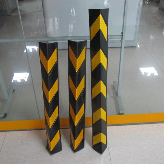 BORRACHA de apoio, garagem subterrânea, um canto de reflector de segurança - proteção do transporte do artigo canto amarelo e Preto