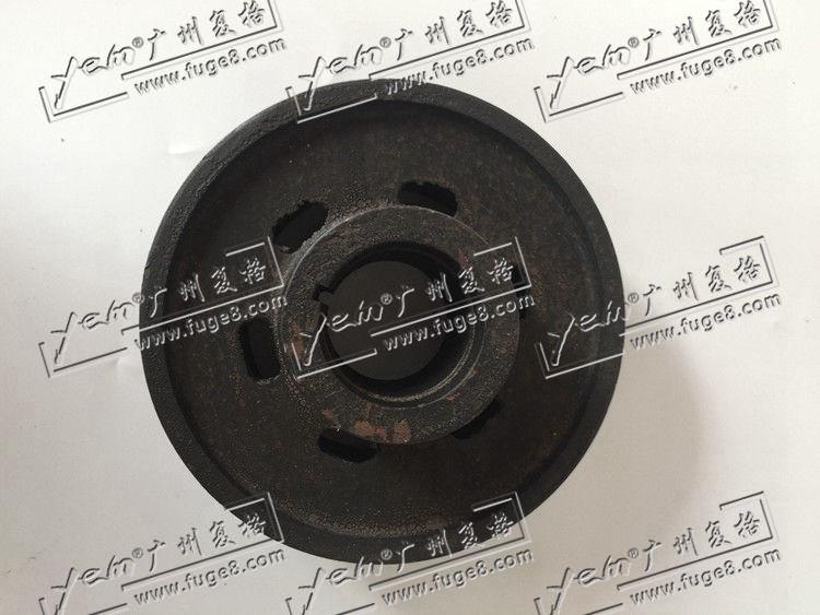 Komatsu 4D95 crankshaft pulley double groove