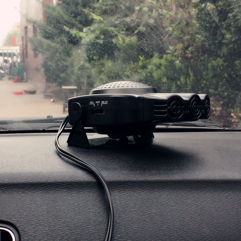 12V vehicle refrigeration and air conditioning heating heater refit, automobile warm fan, fan truck shake head car electricity