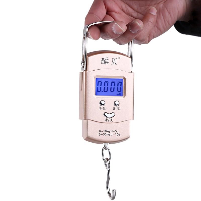 Electrónico de mano de escala mini - mensajero llamado balanza de cocina portátil de gancho que escala de 50 kg