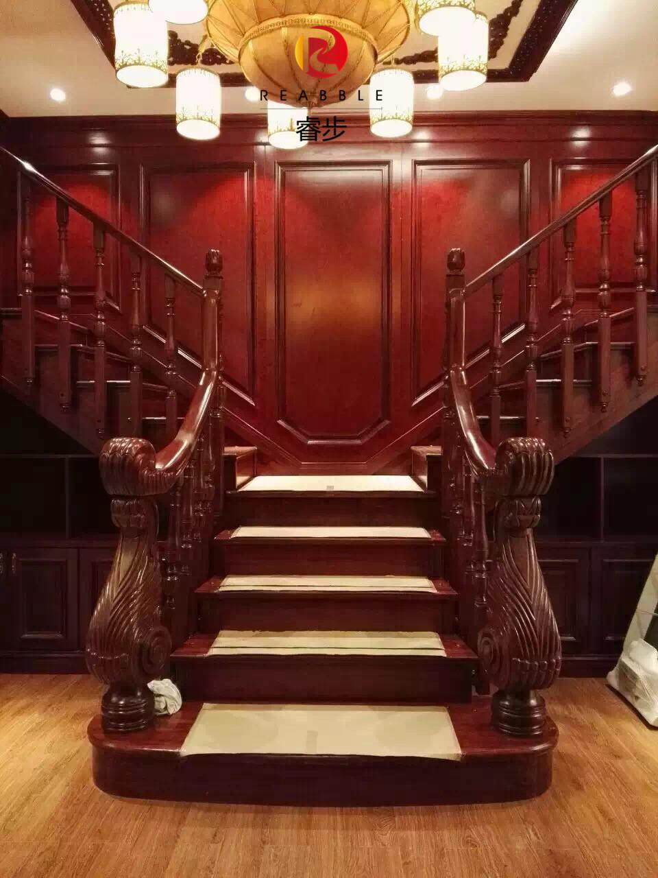 Chengdu Rui Schritt die treppe, Holz, Gummi, Holz, Holz - handlauf der treppe die treppe