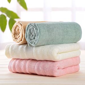 3条装 竹浆纤维毛巾柔软吸水洗脸纱布面巾成人洗脸儿童纯棉毛巾