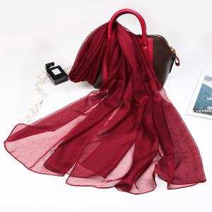 上海故事夏季丝巾女防晒纱巾百搭多功能披肩大红色围巾超大沙滩巾