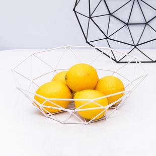创意北欧风格水果篮现代简约铁艺水果盘客厅家用茶几零食筐干果盘