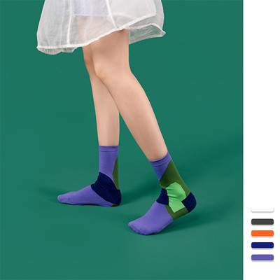 SSWEATSHOP 19AW 大花系列文艺可爱袜 运动纯棉中筒袜子男女潮袜