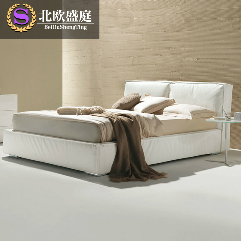Washable fabric bed large-sized apartment 1.8 meters double bed bed cloth Nordic minimalist modern storage soft bed