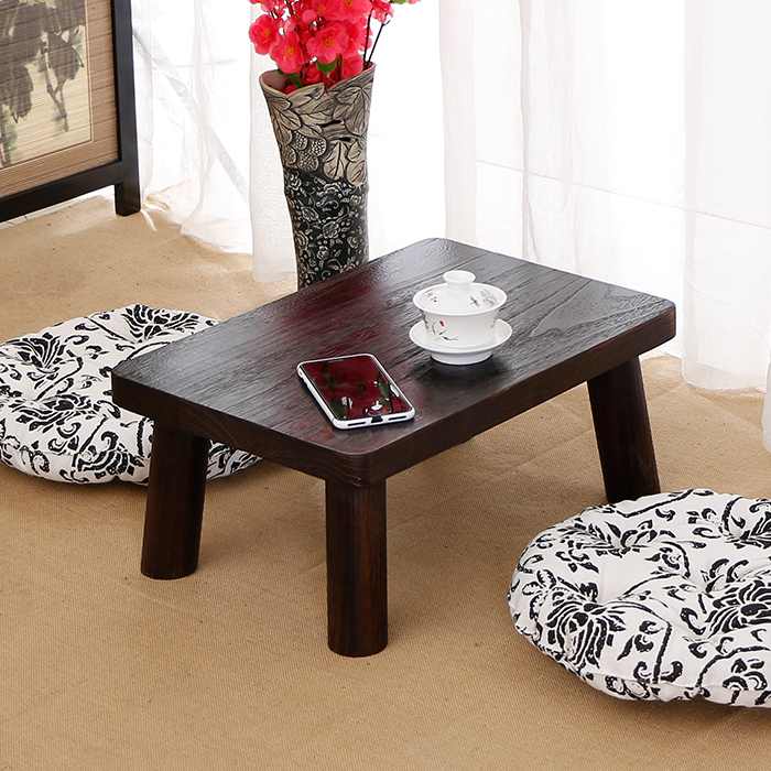 Solid wood table bed small square table table table table household windows platform imitation ancient science small tatami table table
