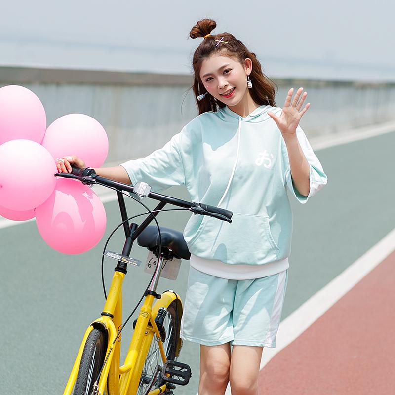 Bộ nữ kiểu dáng thời trang phong cách Hàn Quốc dễ kết hợp phù hợp cho mùa hè kiểu dáng rộng rãi phong cách học sinh mẫu mới nhất