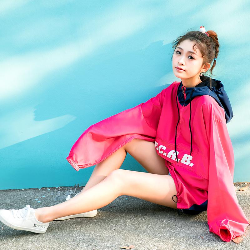 Áo khoác/Áo nữ loại mỏng dáng dài thời trang phong cách Hàn Quốc dễ kết hợp kiểu dáng rộng rãi phong cách học sinh mẫu mới nhất phù hợp cho mùa xuân liền mũ