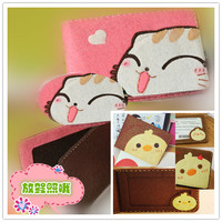 Nonwoven material package protective sleeve sleeve more adorable license with the card card package size 8x11cm