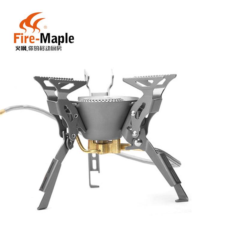 пикник газовых печей большой мощности огонь клен FMS-100 поход печь печь голову газа открытый портативный двухкамерных плита плита