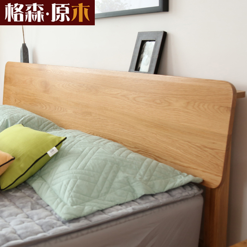 Nordic all solid wood beds, 1.8 meters double beds, oak economy 1.5m1.2 modern minimalist bedroom furniture, Japanese style