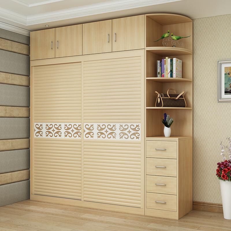 Garde - robe simple de type économique moderne de lignine solide multifonction de type plaque porte - casier porte coulissante de la chambre