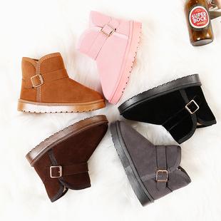 2019儿童雪地靴保暖棉鞋冬季新款加绒女童短靴男童宝宝防水靴鞋子