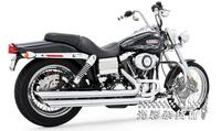 Harley Dana modified FREEDOM free incision under 2 2 black chrome exhaust intact