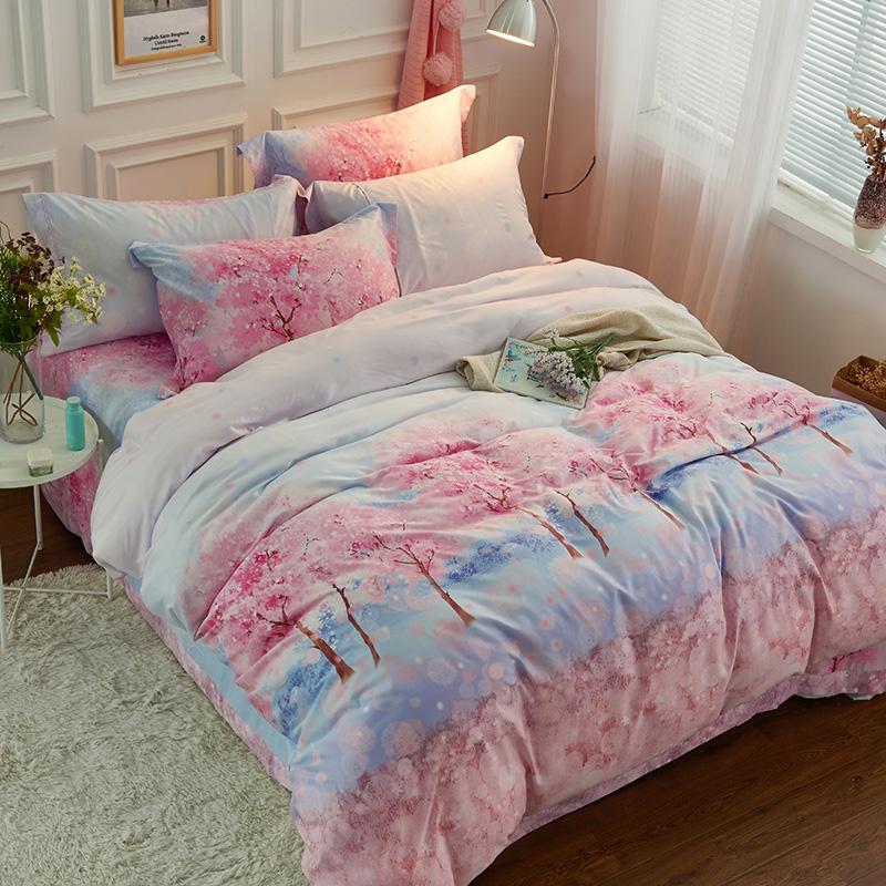Four sets of double wire Tencel sanding super soft thick quilt quilt 1.8m with single bed double bed in autumn and winter