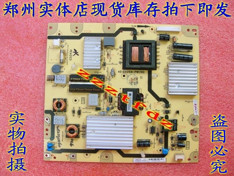 TCL LCD TV, L55V6500A-3D power board, 40-E421C6-PWC1XG circuit board