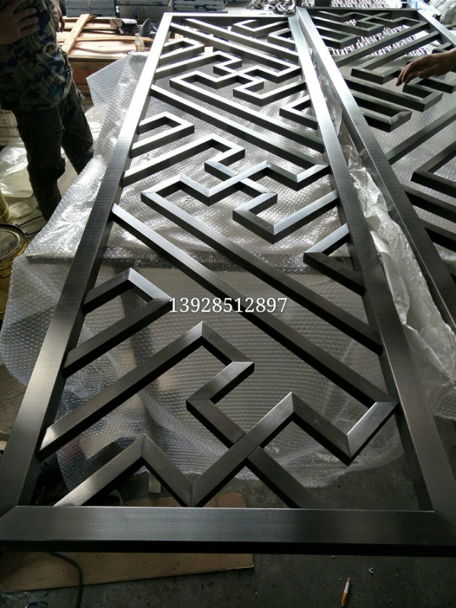 Stainless steel screen, tens of thousands of grid partition drawing, black titanium golden screen, flower grille products manufacturers to map customized