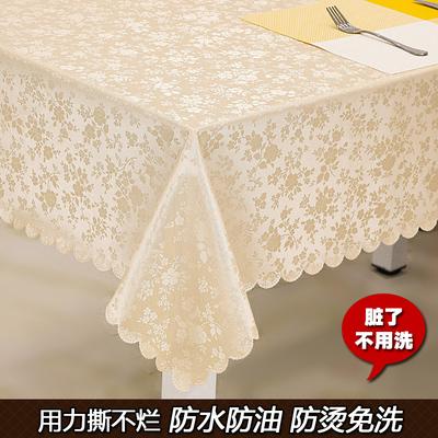 欧式餐桌布防水防烫防油免洗长方形茶几布 酒店圆桌布方台布
