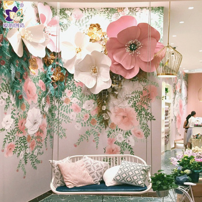 Wedding Items customizepaper flower decoration props window indoor shopping mall wedding large stereo
