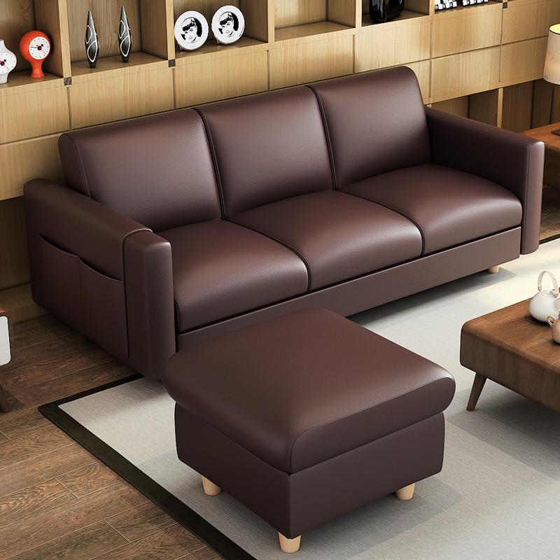 Τον καναπέ - κρεβάτι πτυσσόμενου σαλόνι διπλό μικρό διαμέρισμα πολυλειτουργική 1,8 m σύγχρονο μινιμαλιστικό δερμάτινο καναπέ για τρεις
