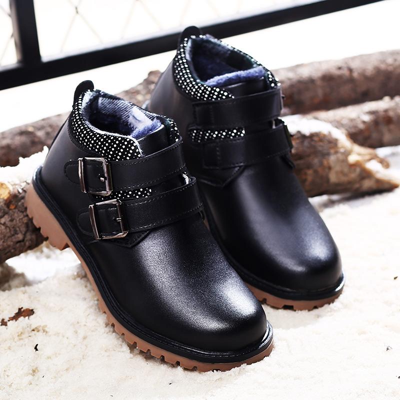男童黑色皮鞋尖头英伦