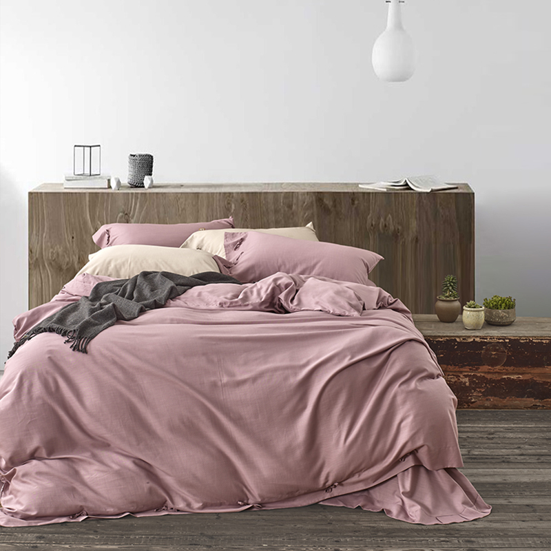 The new four sets of 100% double-sided Tencel Tencel linen and bedding American bed four pieces
