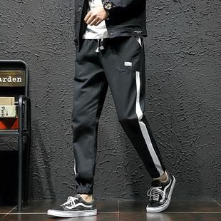 祖玛珑春秋季男裤男休闲裤运动裤韩版潮流修身透气直筒修身运动裤