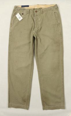 R 美式经典 复古水洗做旧 喷漆男式长裤17032215原单