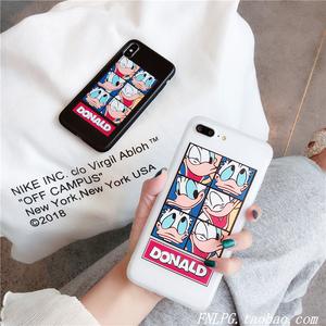 唐老鸭卡通可爱苹果x手机壳iPhone7plus全包软壳硅胶8/6s情侣潮女