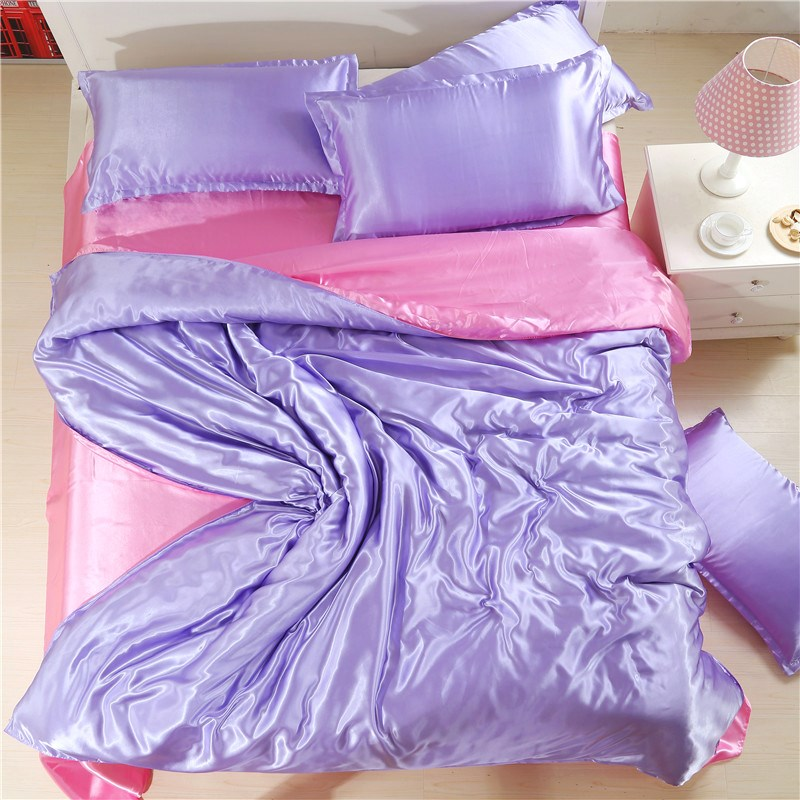In the summer of four summer air conditioning quilt silk satin color purple silk bedding Tencel special offer