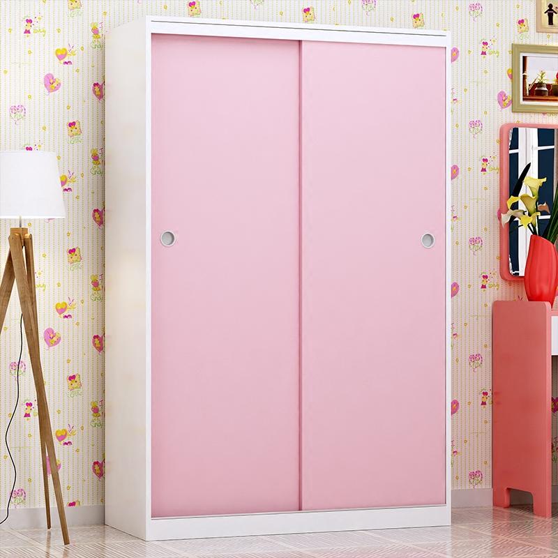 Les enfants de l'armoire l'économie de bois de type moderne et simple de l'ensemble porte coulissante porte deux portes d'armoires de rangement